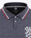 Men's Heather Regular Short Sleeve Polo Shirt - Front View