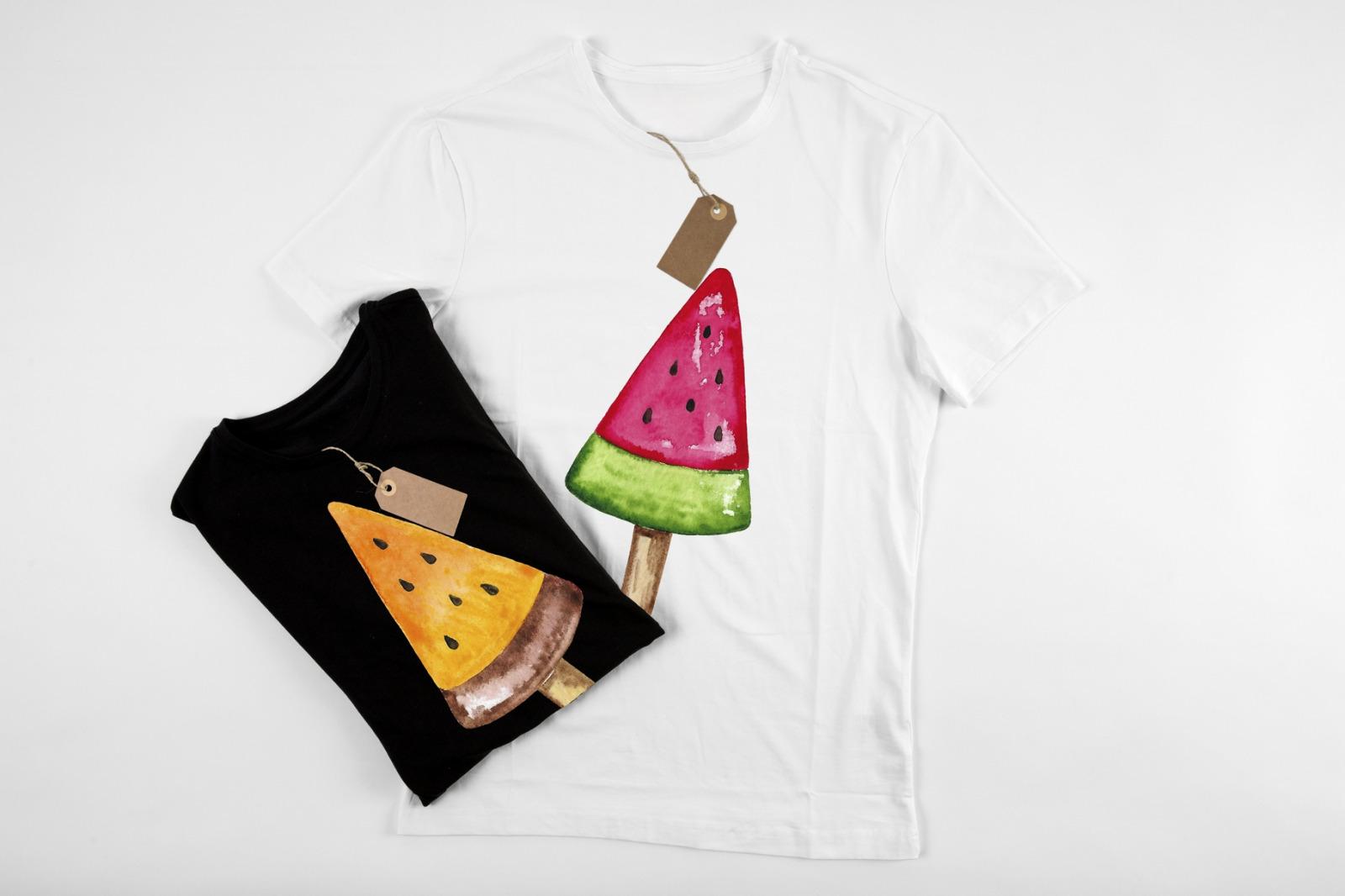 Ice cream. Watercolor set + Bonus