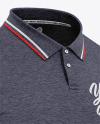 Men's Heather Regular Short Sleeve Polo Shirt - Front Half Side View