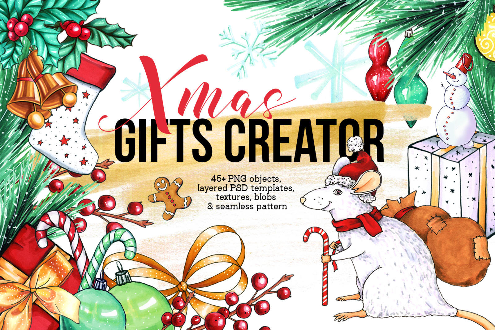 Xmas Gifts Creator - 2020 holidays clipart