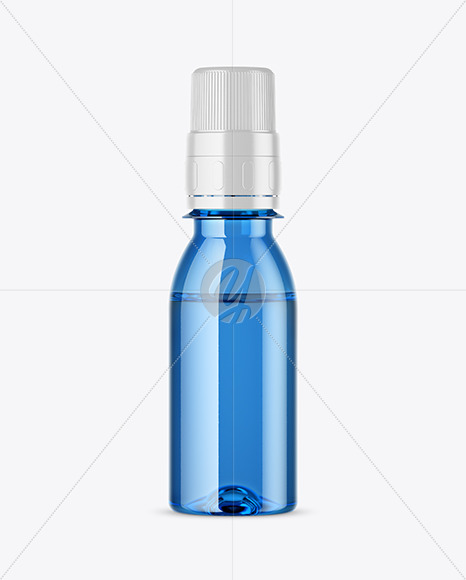 Blue Glass Medicine Bottle Mockup
