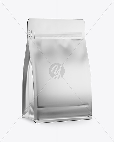 Metallic Coffee Bag Mockup