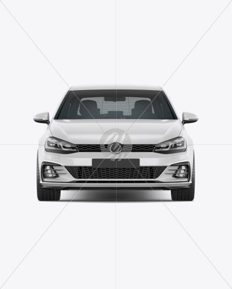 Hatchback 5-doors Mockup - Front View - Yellowimages Mockups
