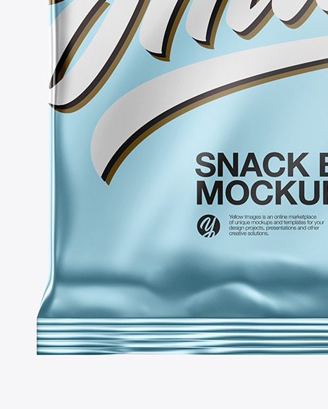 Metallic Snack Bar Mockup