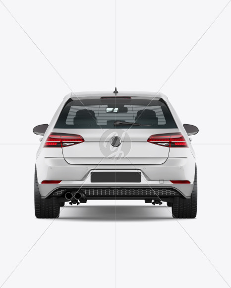 Hatchback 5-doors Mockup - Back View - Yellowimages Mockups