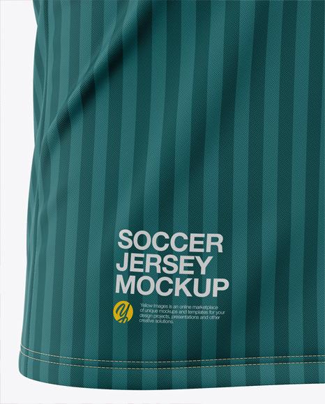 Men's Soccer V-Neck Jersey Mockup - Front Half-Side View