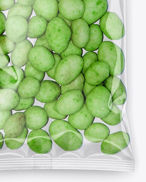 Clear Plastic Pack w/ Wasabi Peanuts