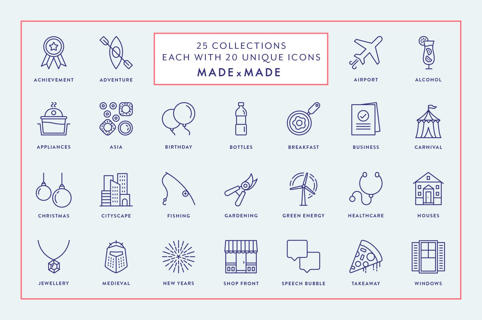 Line Icons – Mega Bundle Vol 1