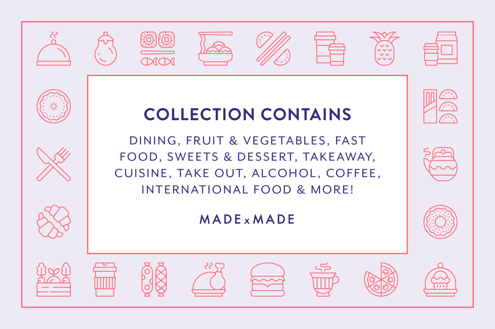Line Icons – Food & Drink