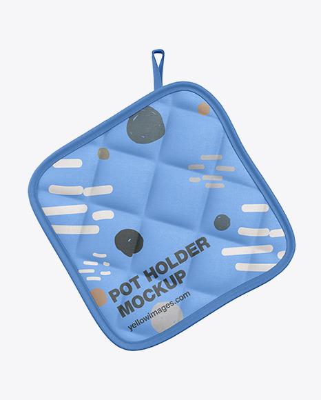 Fabric Pot Holder Mockup