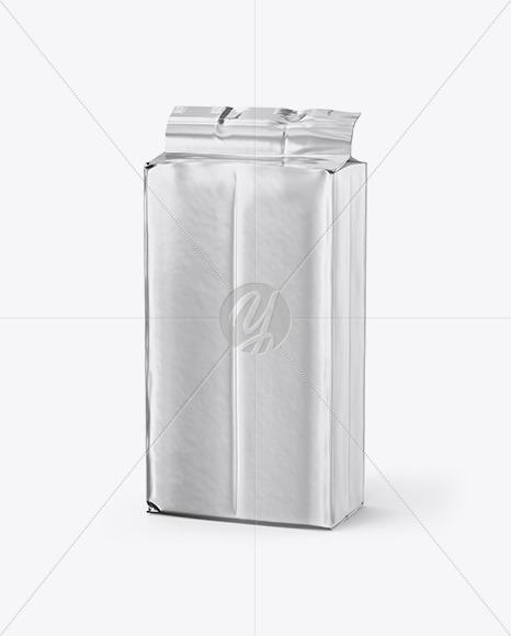Metallic Coffee Pack Mockup