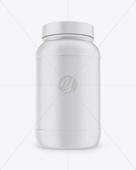 Plastic Jar Mockup