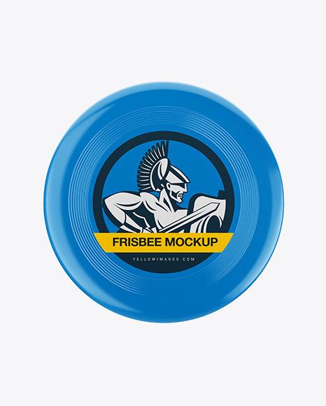 Glossy Frisbee Mockup