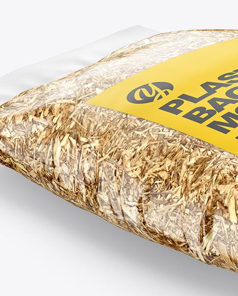 Plastic Bag w/ Cedar Chips Mockup