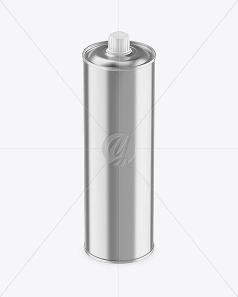 1L Metallic Olive Oil Tin Can Mockup