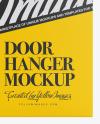 Paper Door Hanger Mockup