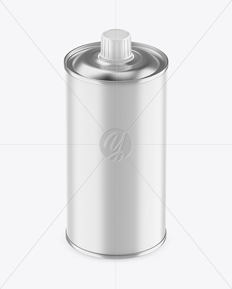 0.5L Matte Olive Oil Tin Can Mockup