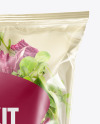 Plastic Bag With Salad Kit Mockup