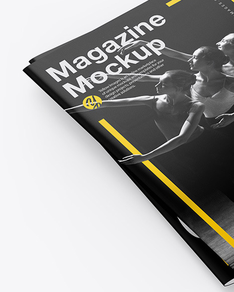 Two Glossy A4 Magazines Mockup