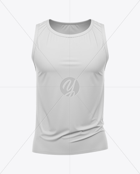 Men's Loose Fit Sleeveless Shirt Mockup