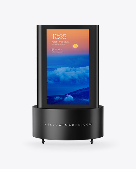 Download Downloadstanding Kiosk PSD Mockup