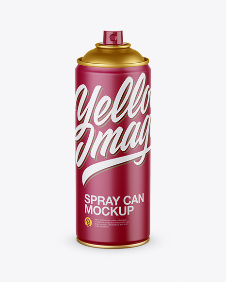 Matte Spray Can Without Cap Mockup