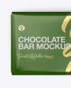 Glossy Chocolate Bar Mockup - Top View