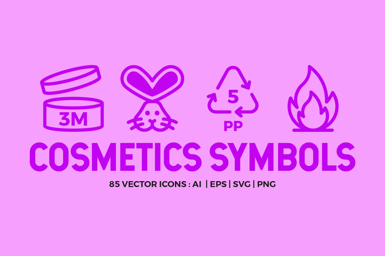 Cosmetic Packaging Symbols | Icons