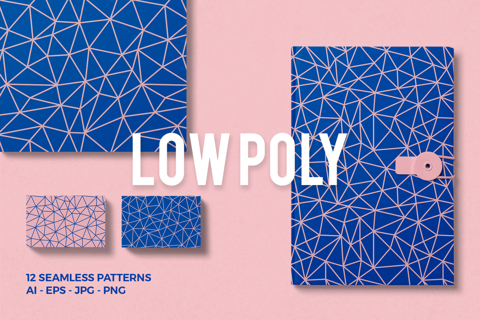 Low Poly Seamless Patterns
