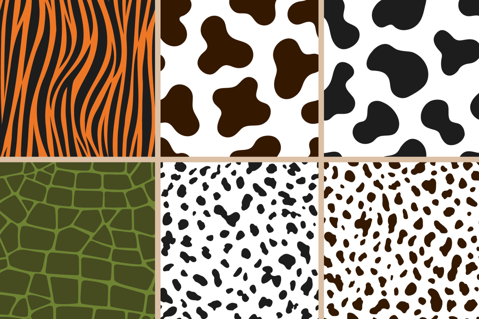Animal Print Seamless Patterns