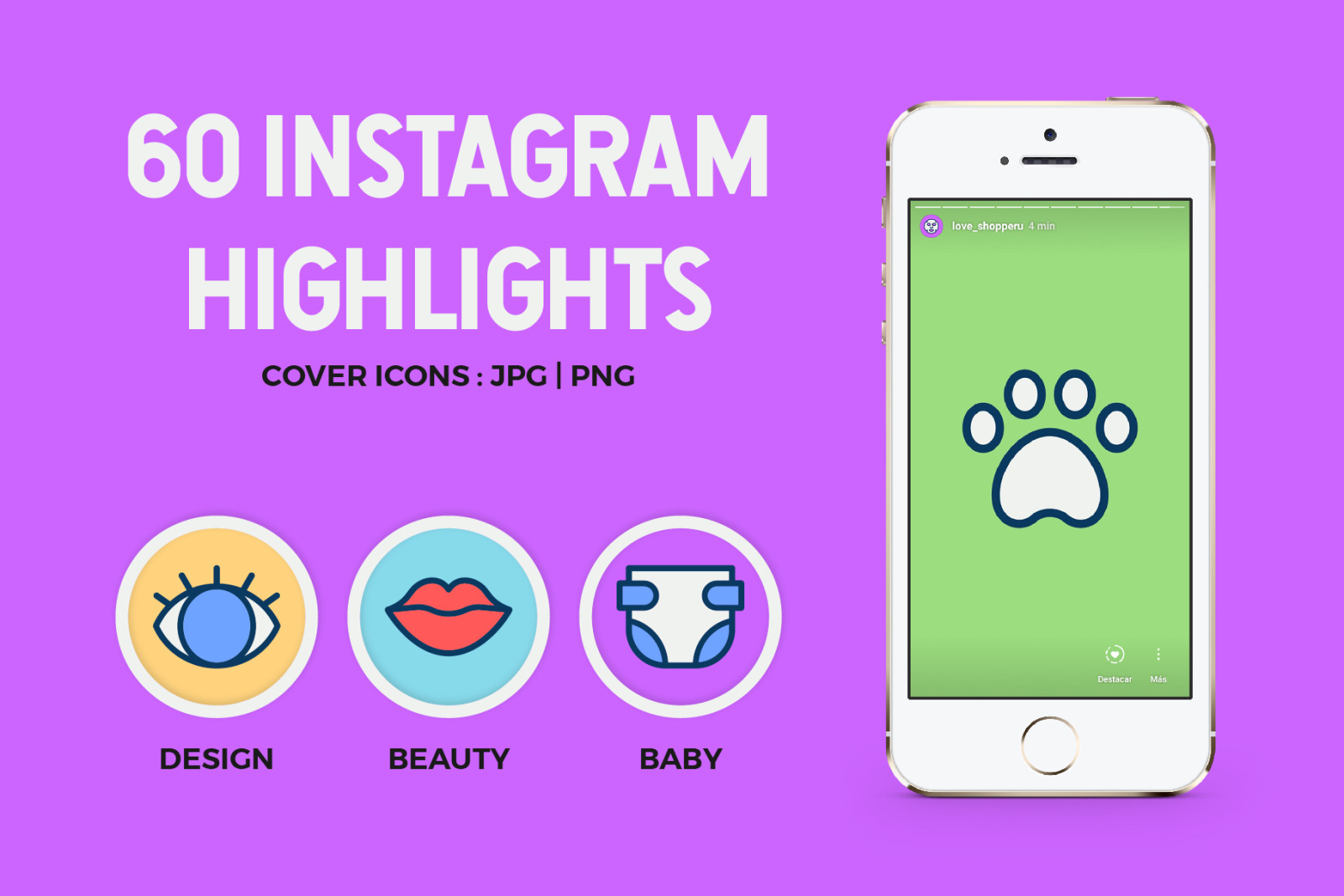 60 Instagram Icons Highlights