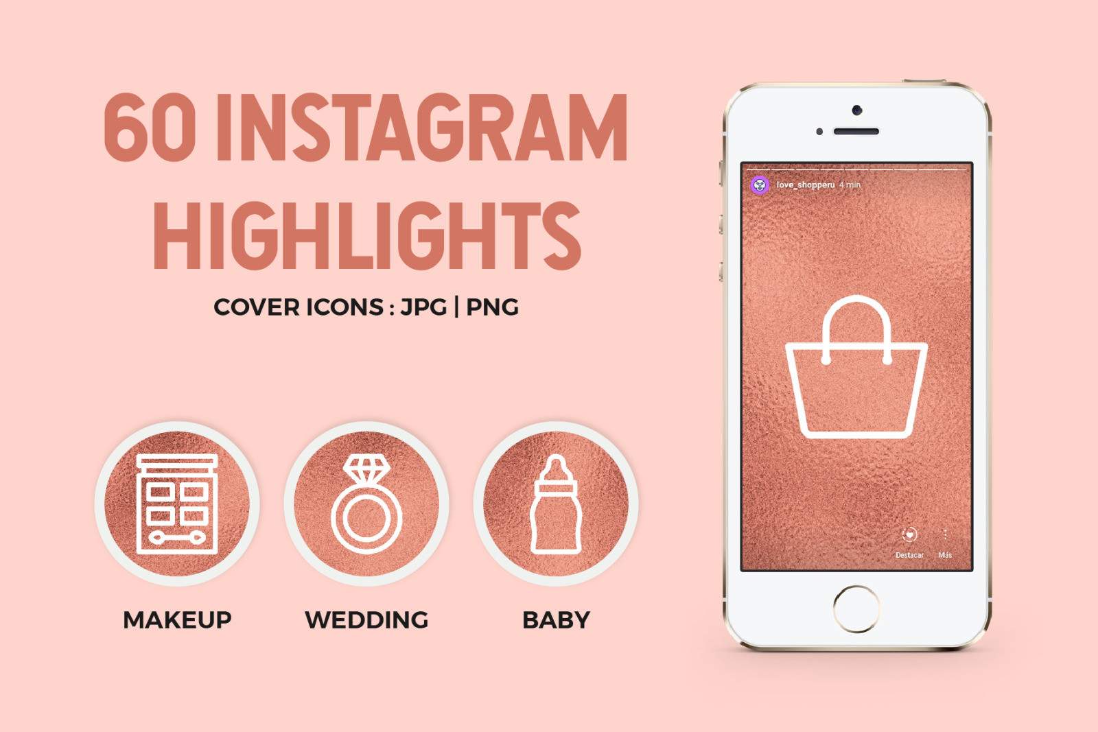 60 Rose Gold Instagram Highlights In Icons On Yellow Images Creative Store