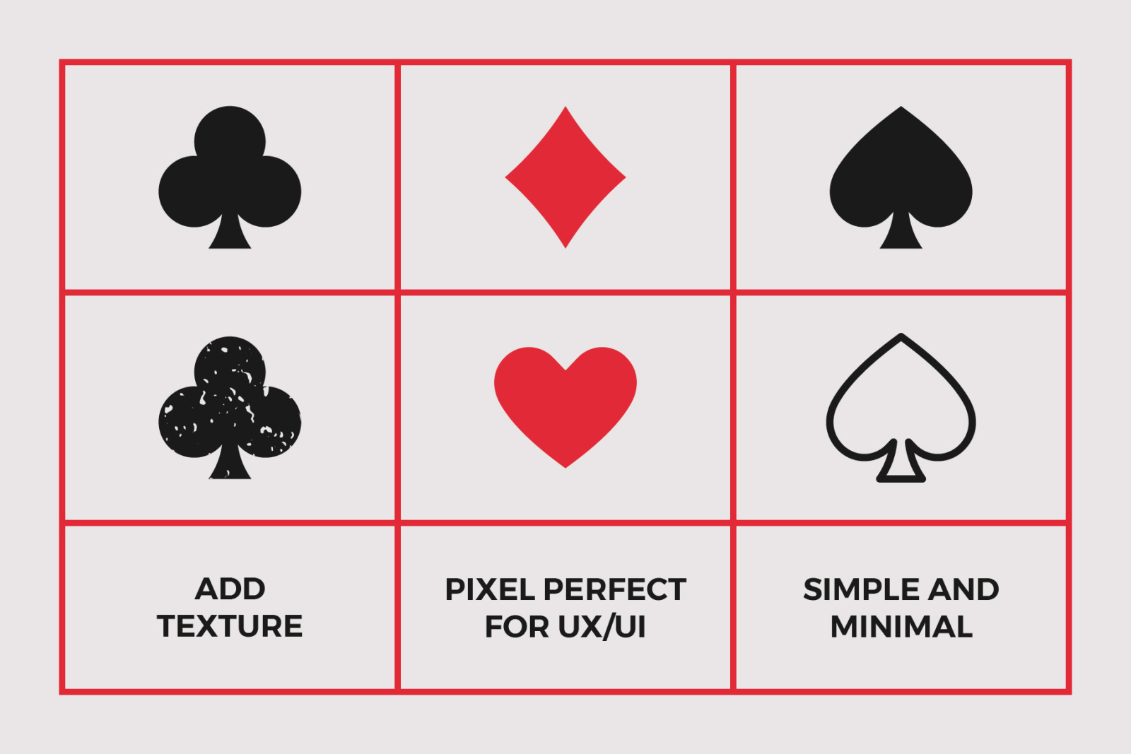 8 Playing Card Poker Symbols Set