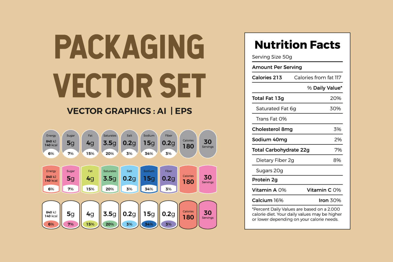 Packaging Vector Set and Elements