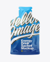 Energy Drink in Matte Sachet Mockup