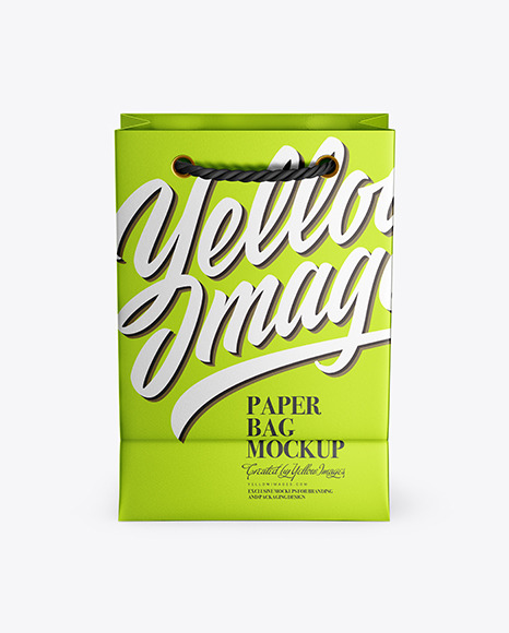 Metallized Paper Bag Mockup