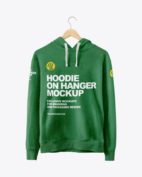 Hoodie on Hanger Mockup