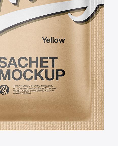 Kraft Sachet Mockup