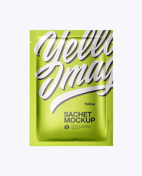 Metallic Sachet Mockup