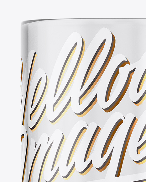 Transparent Glass Coffee Cup Mockup