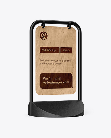 Pavement Sign Advertising - Half Side View