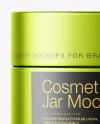 Matte Metallic Cosmetic Jar Mockup