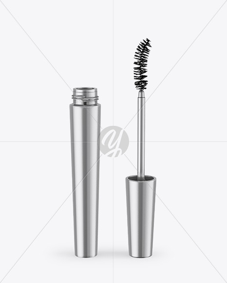 Opened Metallic Mascara Mockup