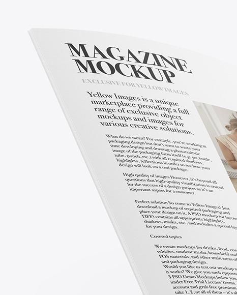 Opened Paper Brochure Mockup