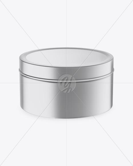 Download Round Metallic Tin Box Mockup In Box Mockups On Yellow Images Object Mockups PSD Mockup Templates