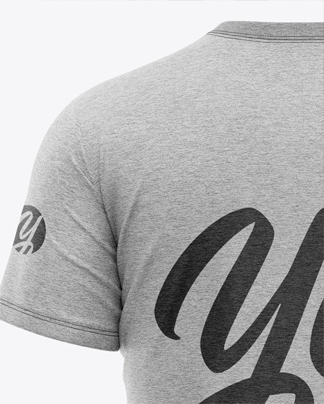 Men's Heather Pocket T-Shirt - Back View