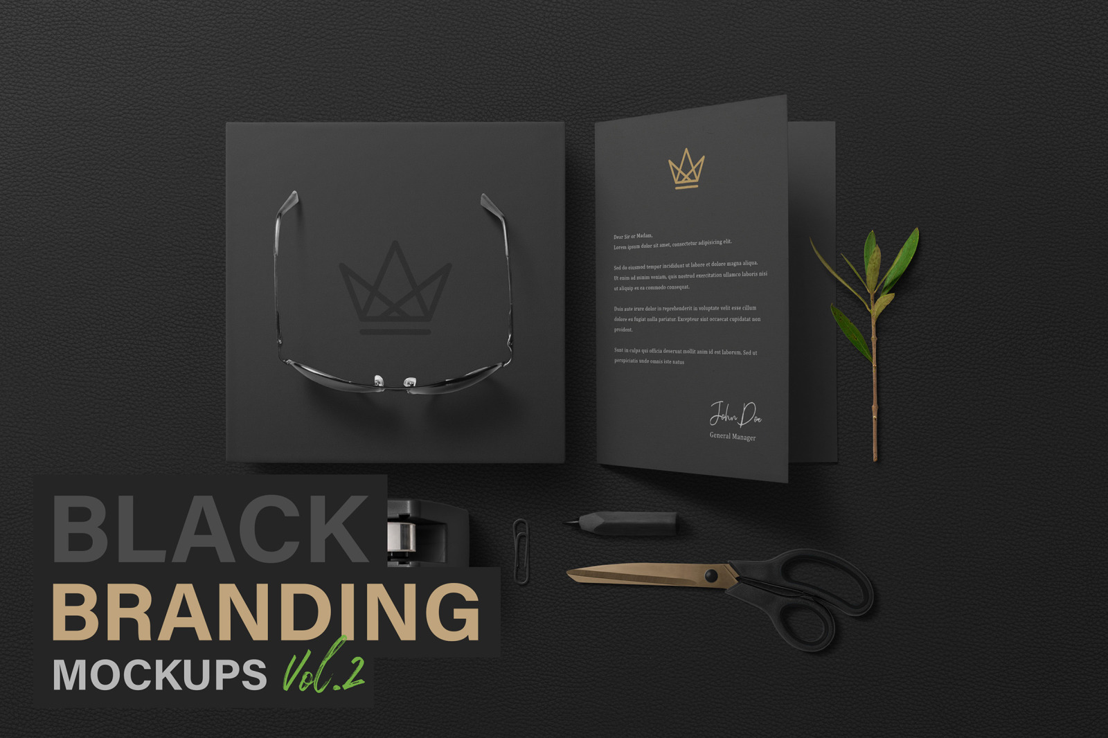 Black Branding Mockups Vol 2 In Stationery Mockups On Yellow