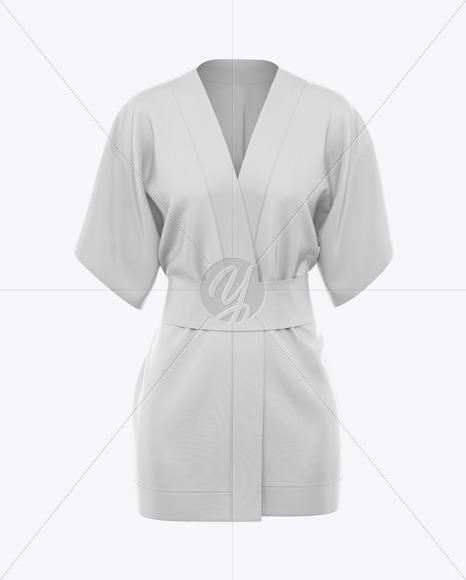 Women's Short Kimono Mockup