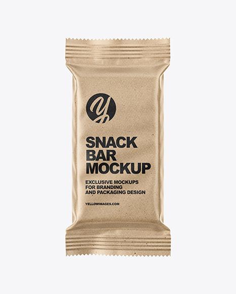 Download Kraft Snack Bar PSD Mockup