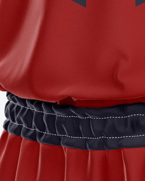 Basketball Uniform Mockup - Half Side View